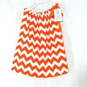 Handmade Pillowcase Dress Girls Sizes 2T-3T Orange
